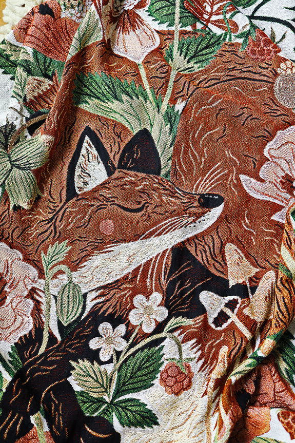 Fox & Flora Woven Throw Blanket