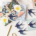 Barn Swallow die-cut gift tags | Set of 8