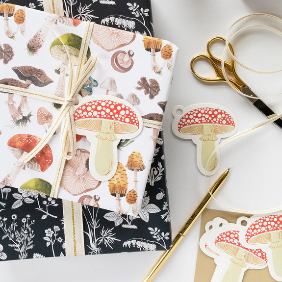 Toadstool die-cut gift tags | Set of 8