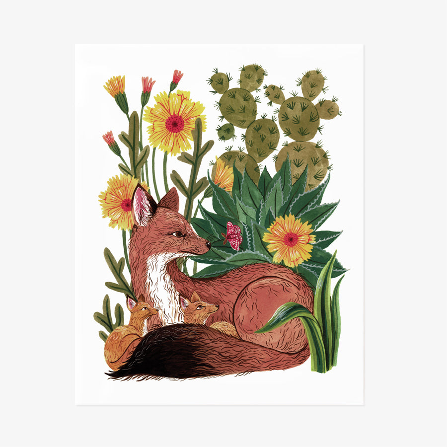 Kit Foxes | Giclée Art Print {PREORDER}
