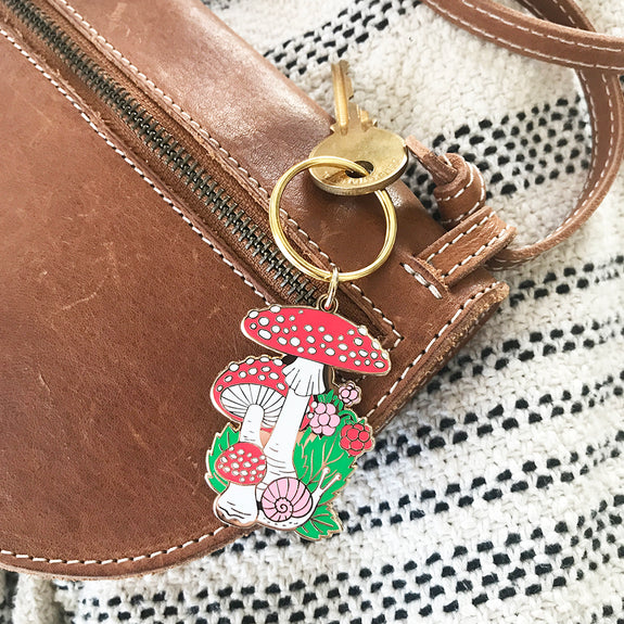 Mushrooms | Enamel Keychain
