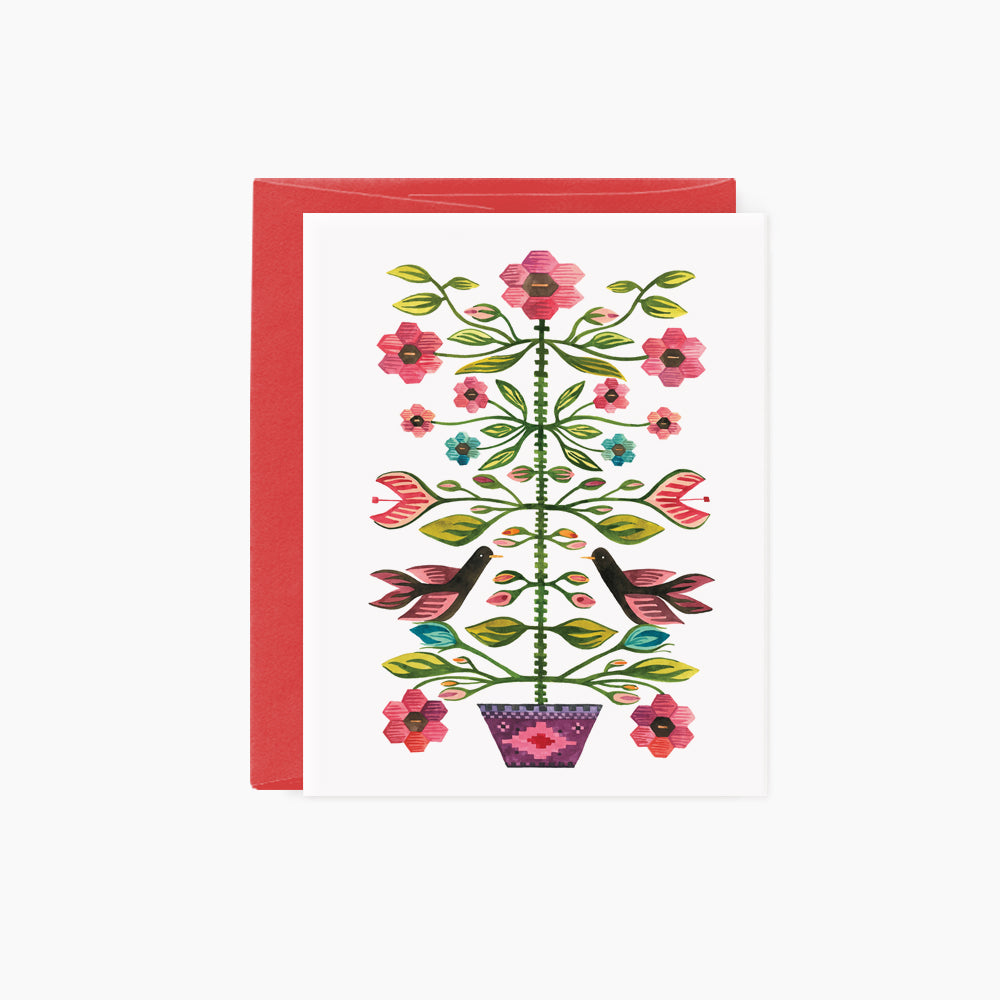 Romanian Folk Tapestry card