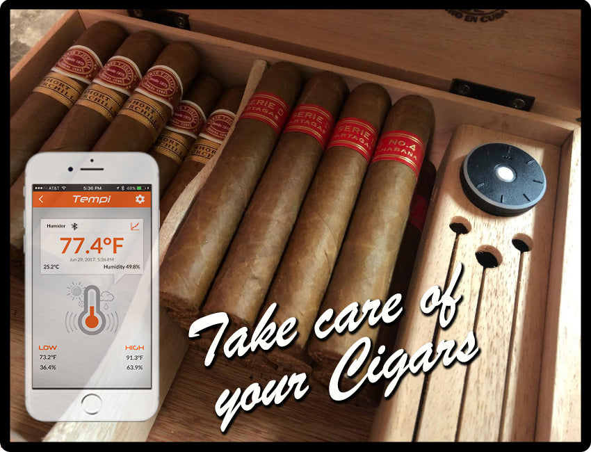 TEMPI KEEPS TRACK OF YOUR CIGAR HUMIDOR