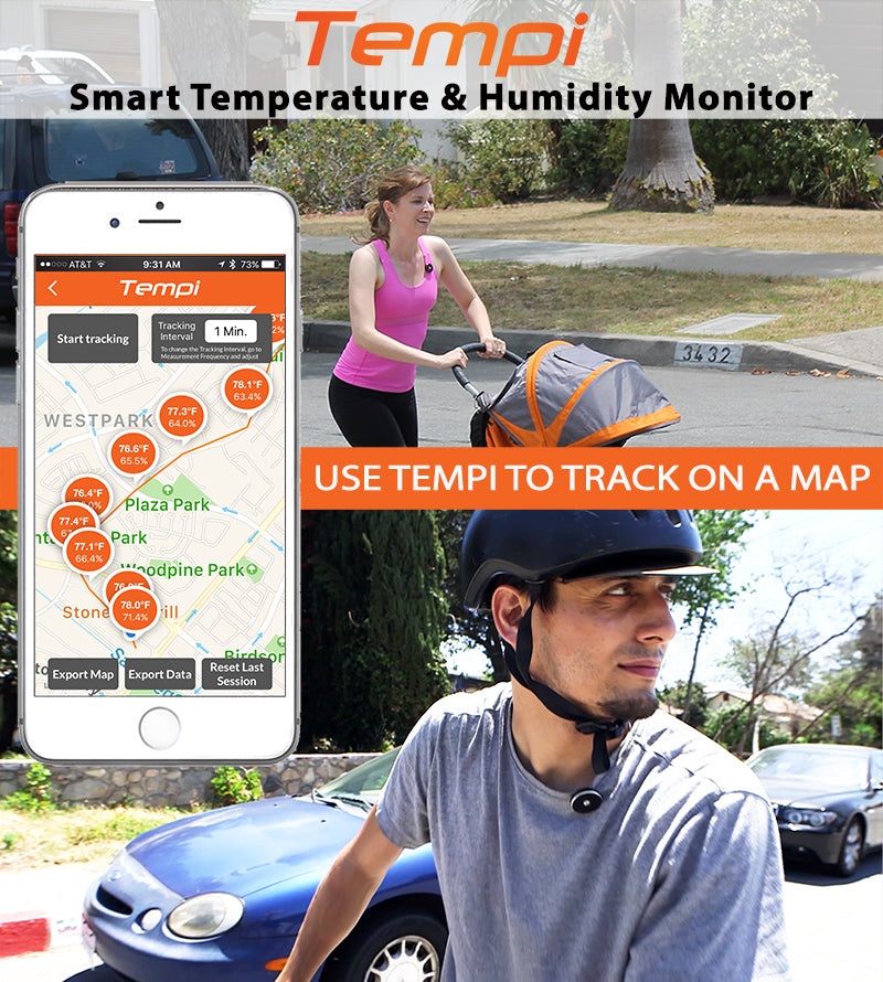 tempi tracks temperature and humility on the go