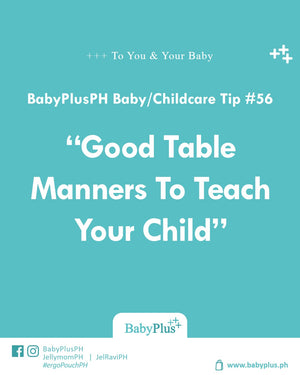 Good Table Manners To Teach Your Child