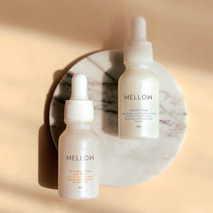 Mellow Naturals natural skin care face serum face oil vit c serum argan oil