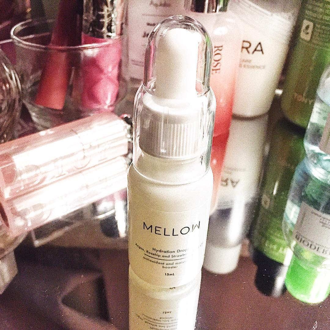 Mellow Naturals Hydration Drops face oil argan rosehip oil natural skin care