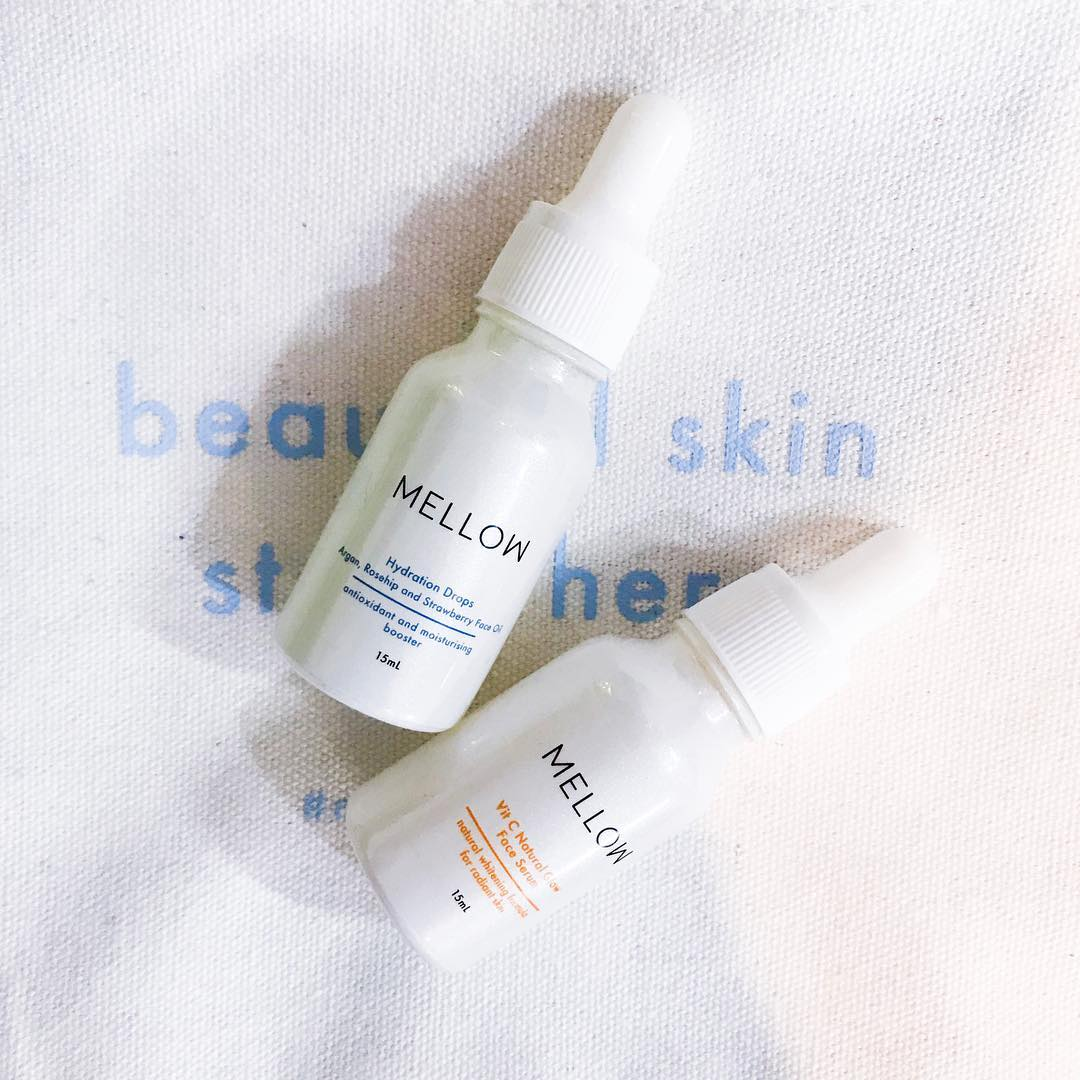 Mellow Naturals skin care vit c face serum face oil