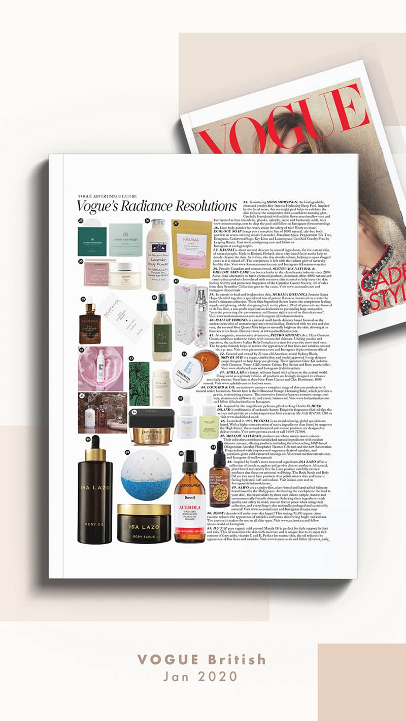 Mellow Naturals Skin Care Vogue #voguebeauty #britishvogue
