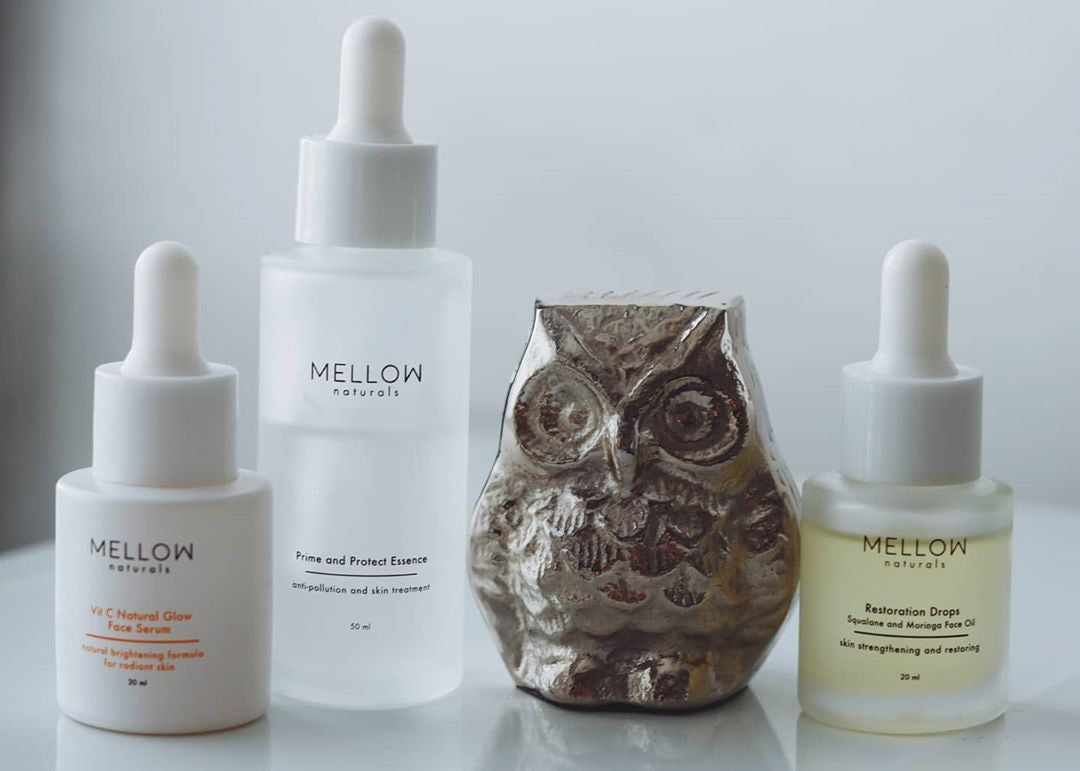 Mellow Naturals skin care beauty cosmetics serums