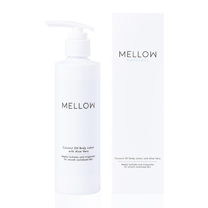 Mellow Naturals Skin Care Coconut Oil Aloe Vera Body Lotion
