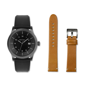 Field Watch MkI (Gunmetal) -  Double Strap Set Set