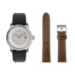 Ivory Field Watch Double Strap Set