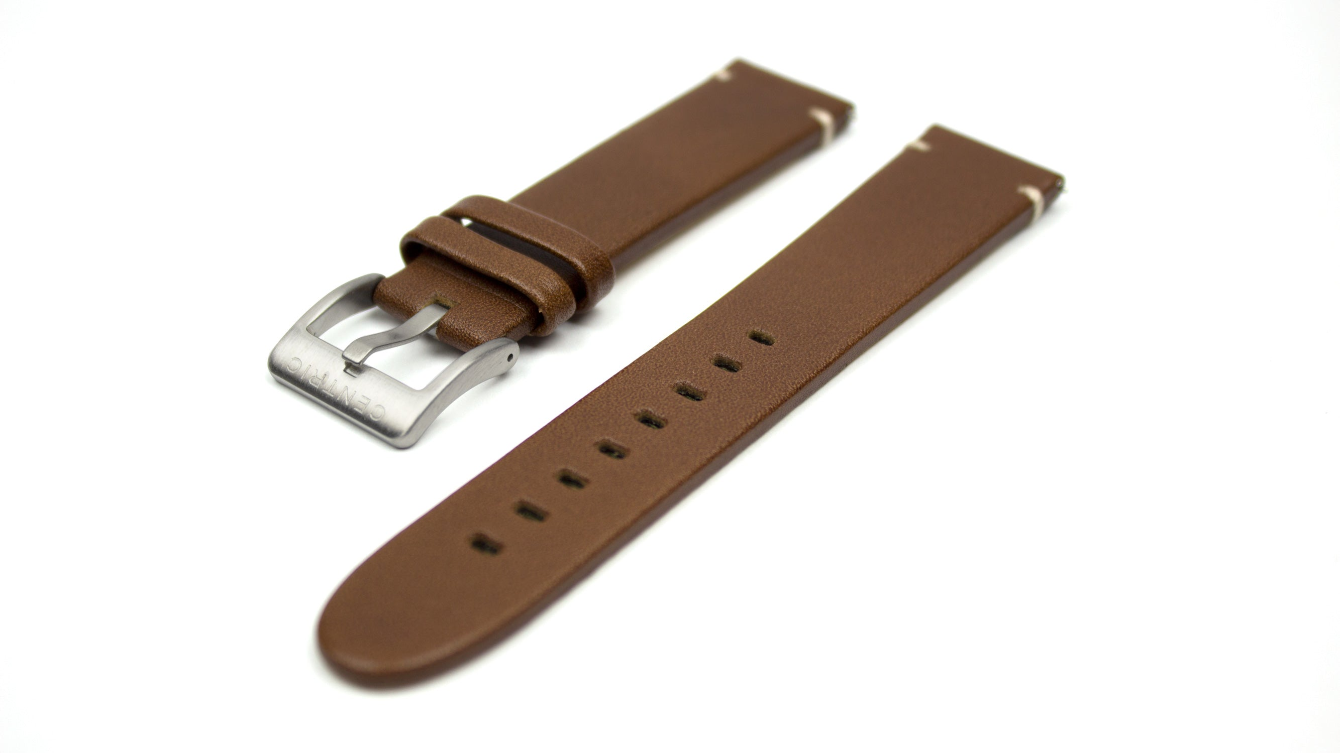 Brown Modern Leather Strap