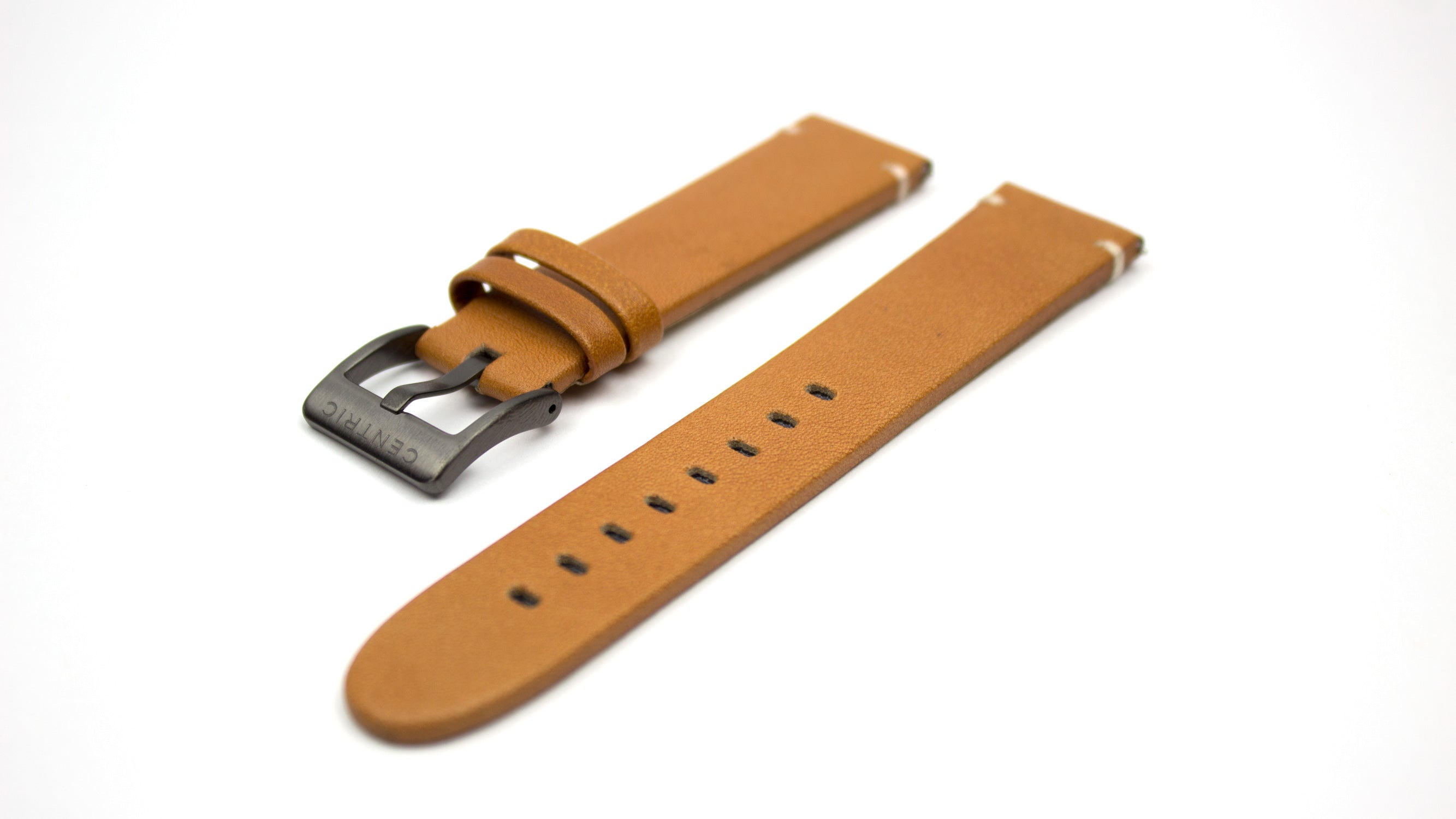 Gunmetal Field Watch Modern Leather Strap