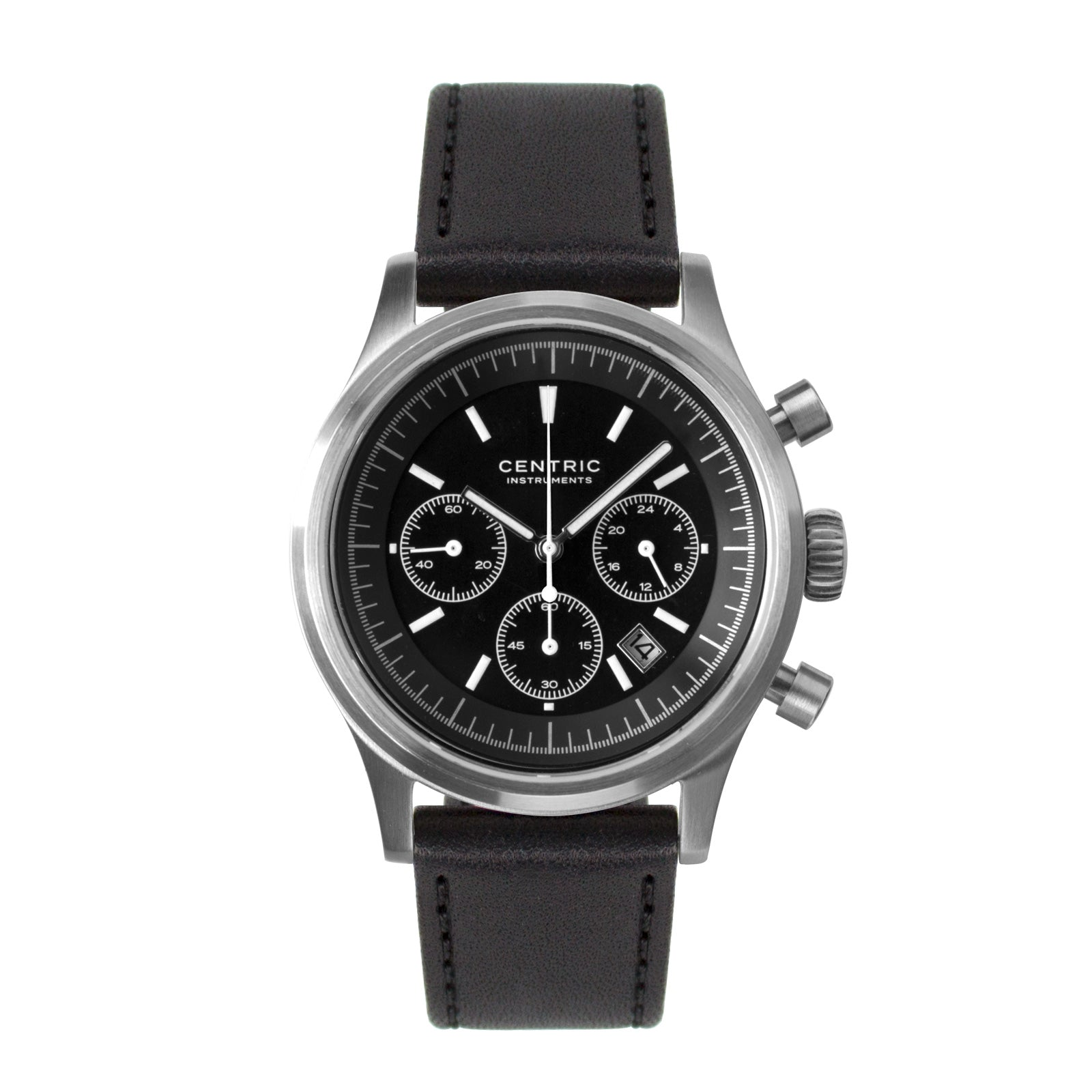 Pilot Chronograph Modern (Black) - Classic Leather