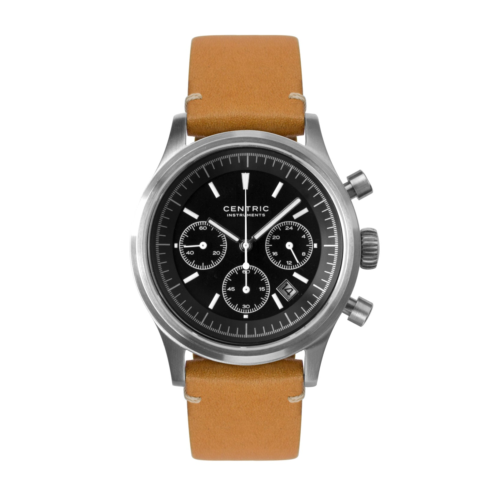 Pilot Chronograph Modern (Black) - Modern Leather