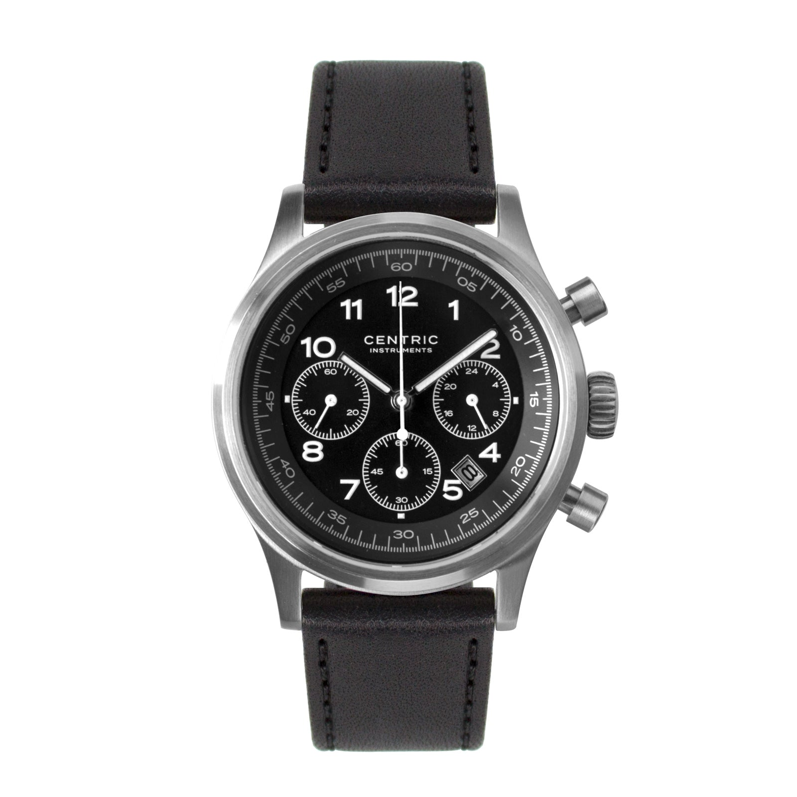 Pilot Chronograph Classic (Black) - Classic Leather