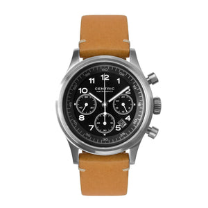 Pilot Chronograph Classic (Black) - Modern Leather