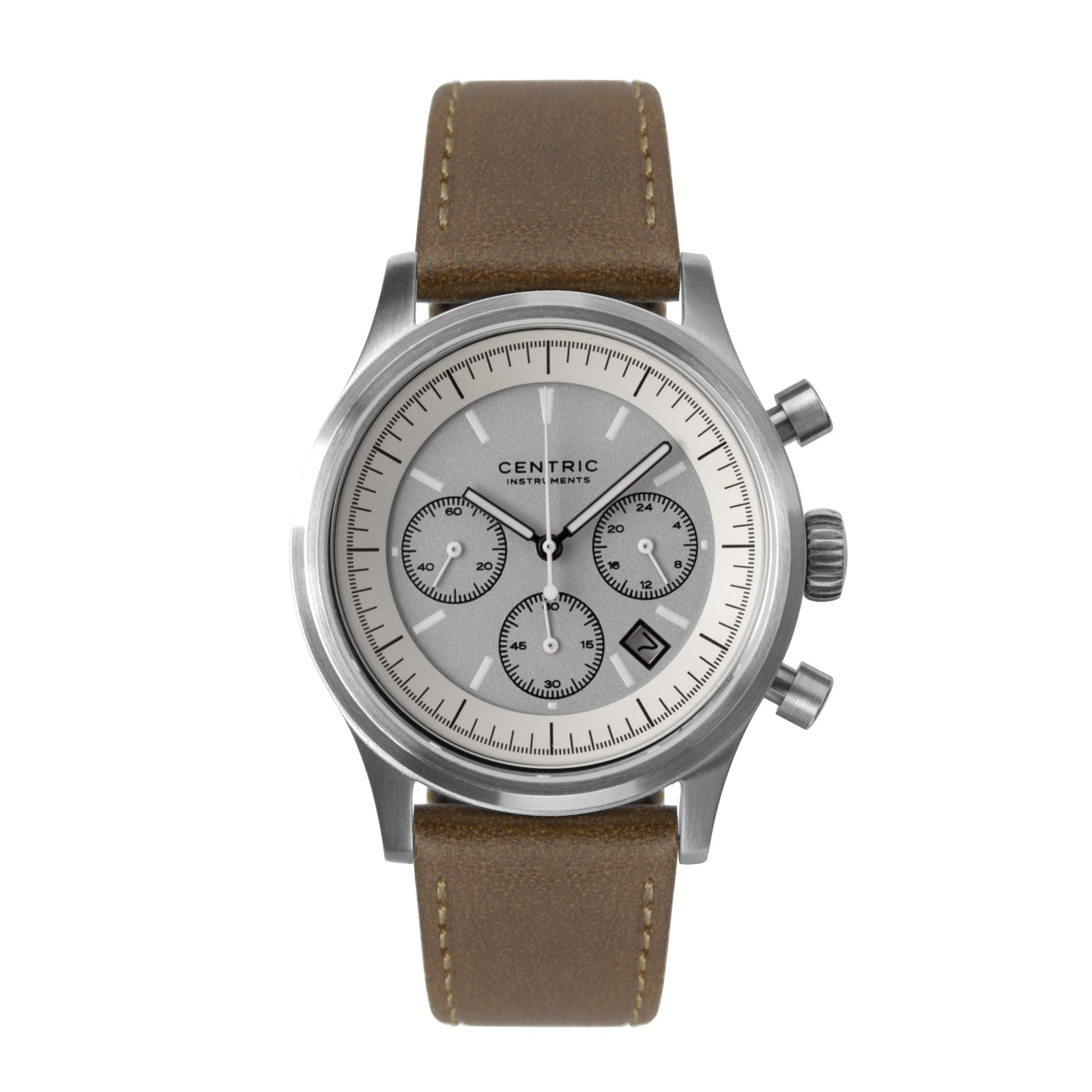 Pilot Chronograph Modern (Ivory) - Classic Leather
