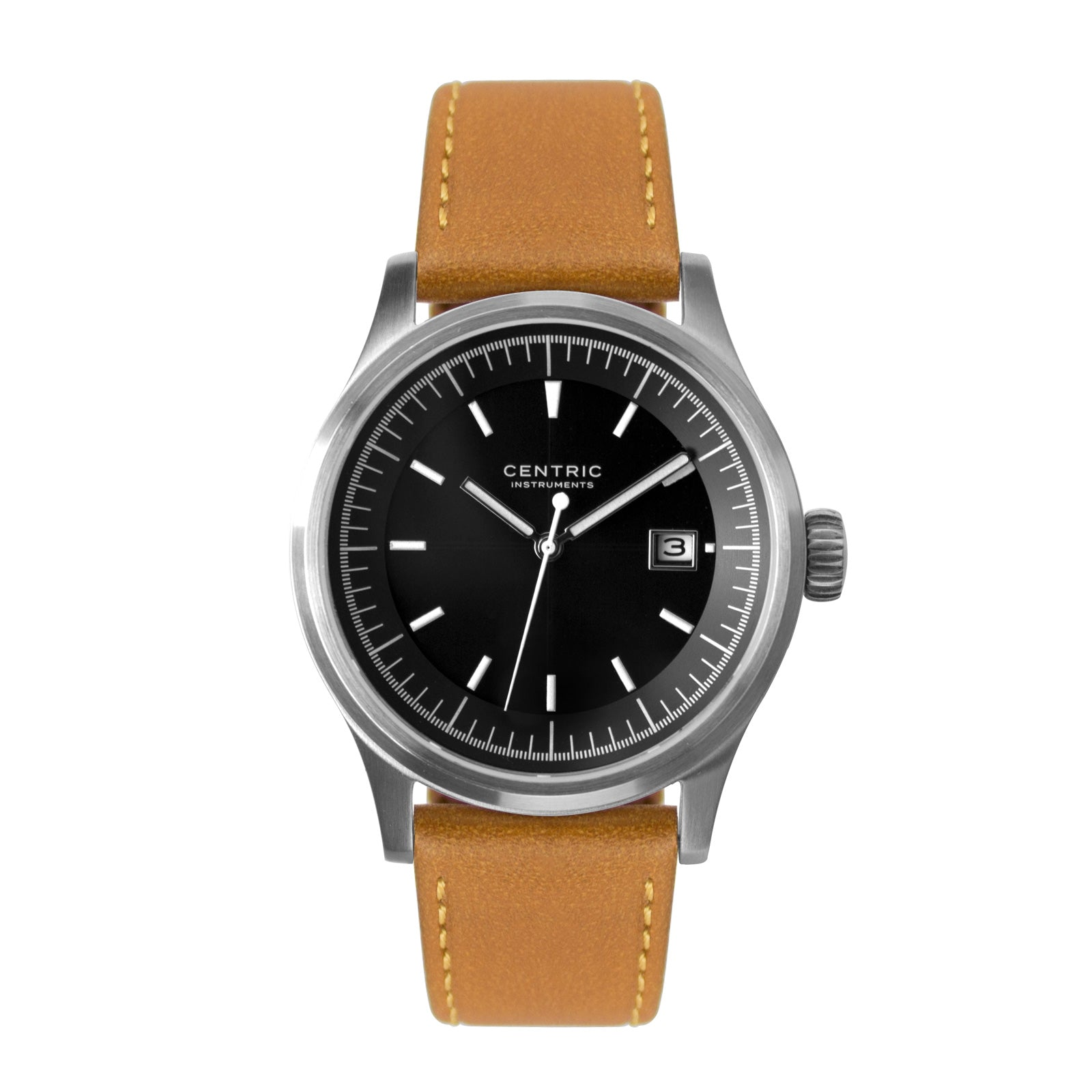 Field Watch MkII Modern (Black) - Classic Leather