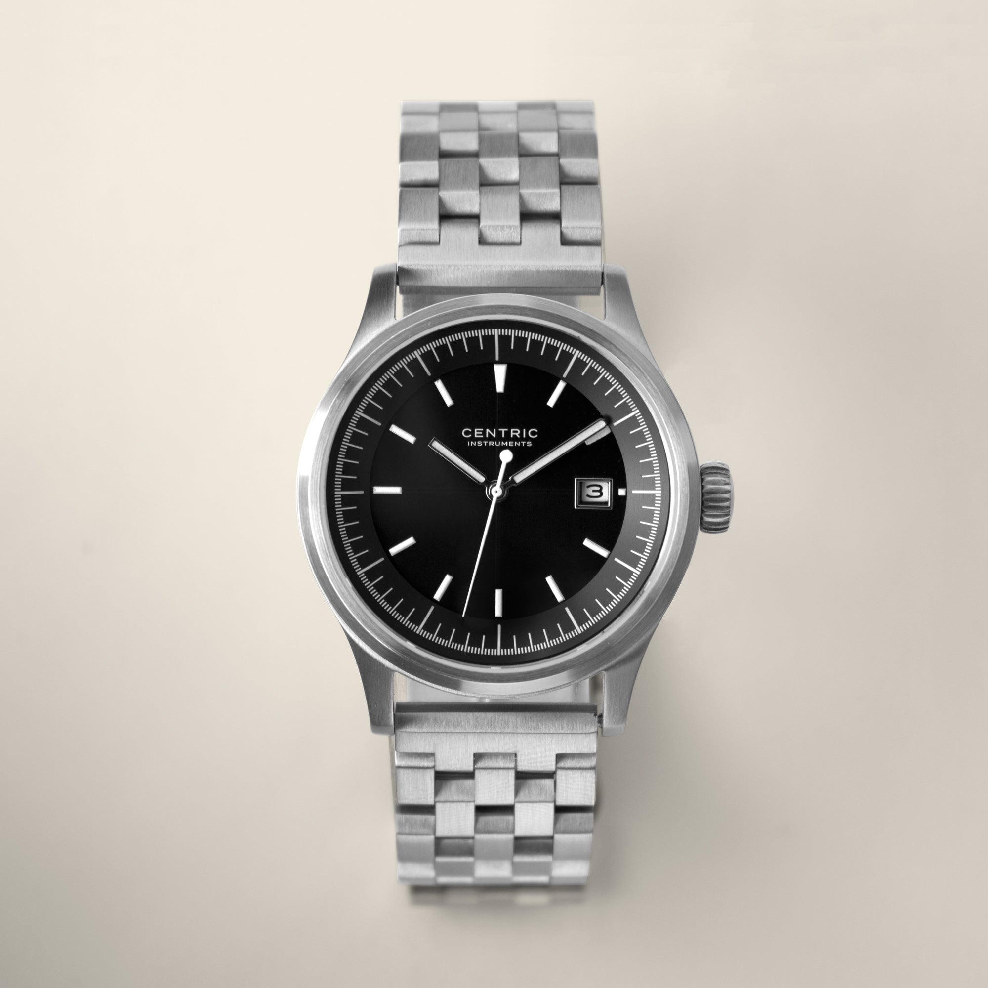 Field Watch MkII Modern (Black) - Steel Bracelet