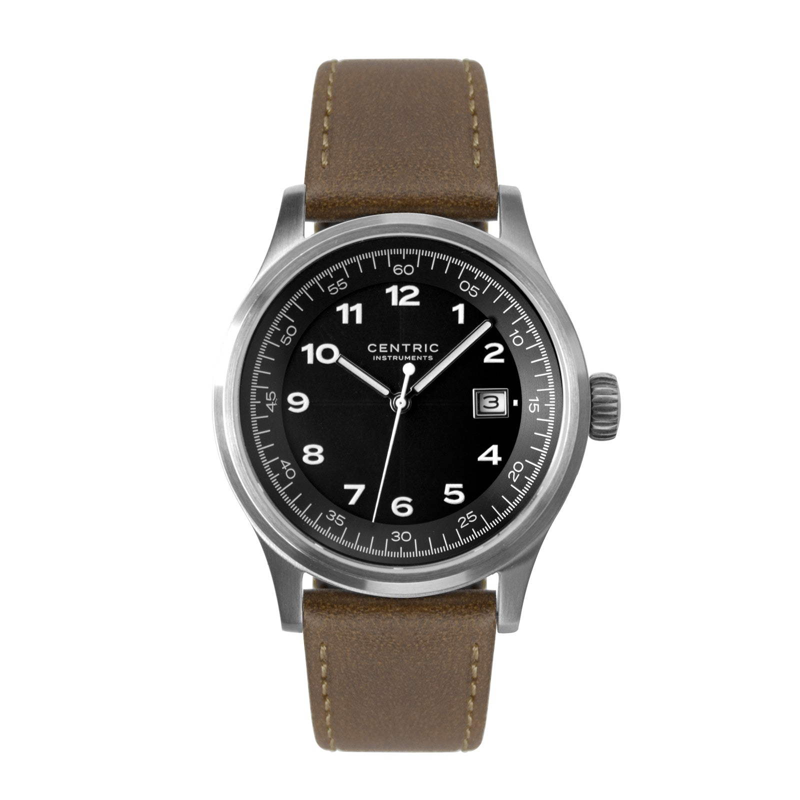 Field Watch MkII Classic (Black) - Classic Leather