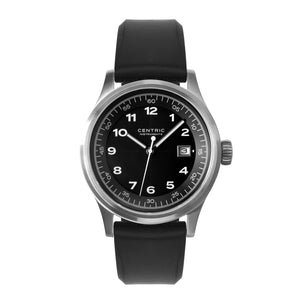 Field Watch MkII Classic (Black) - Silicone Strap