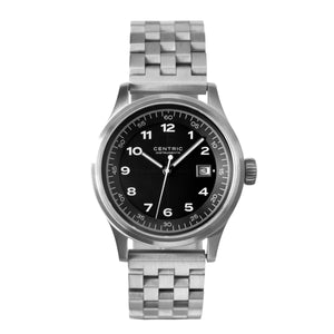 Field Watch MkII Classic (Black) - Steel Bracelet