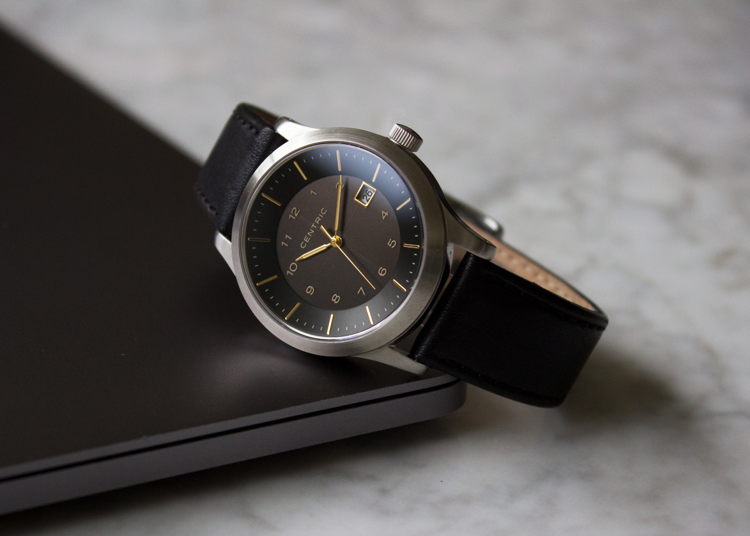 Black Classic Leather Strap