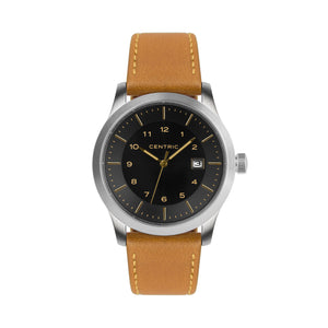 Gilt Field Watch Classic Leather Strap