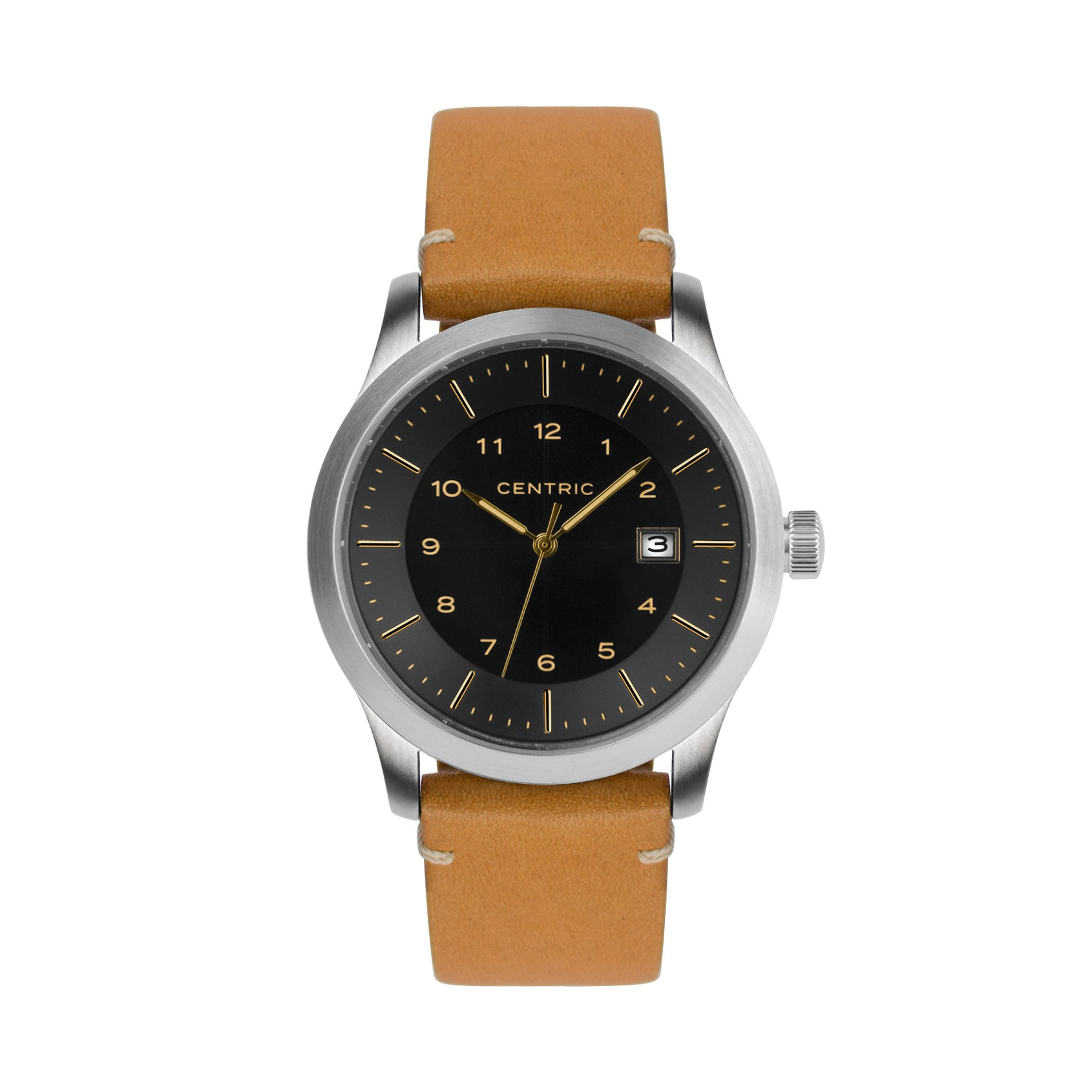 Gilt Field Watch Modern Leather Strap
