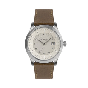 Ivory Field Watch Classic Leather Strap