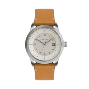 Ivory Field Watch Modern Leather Strap