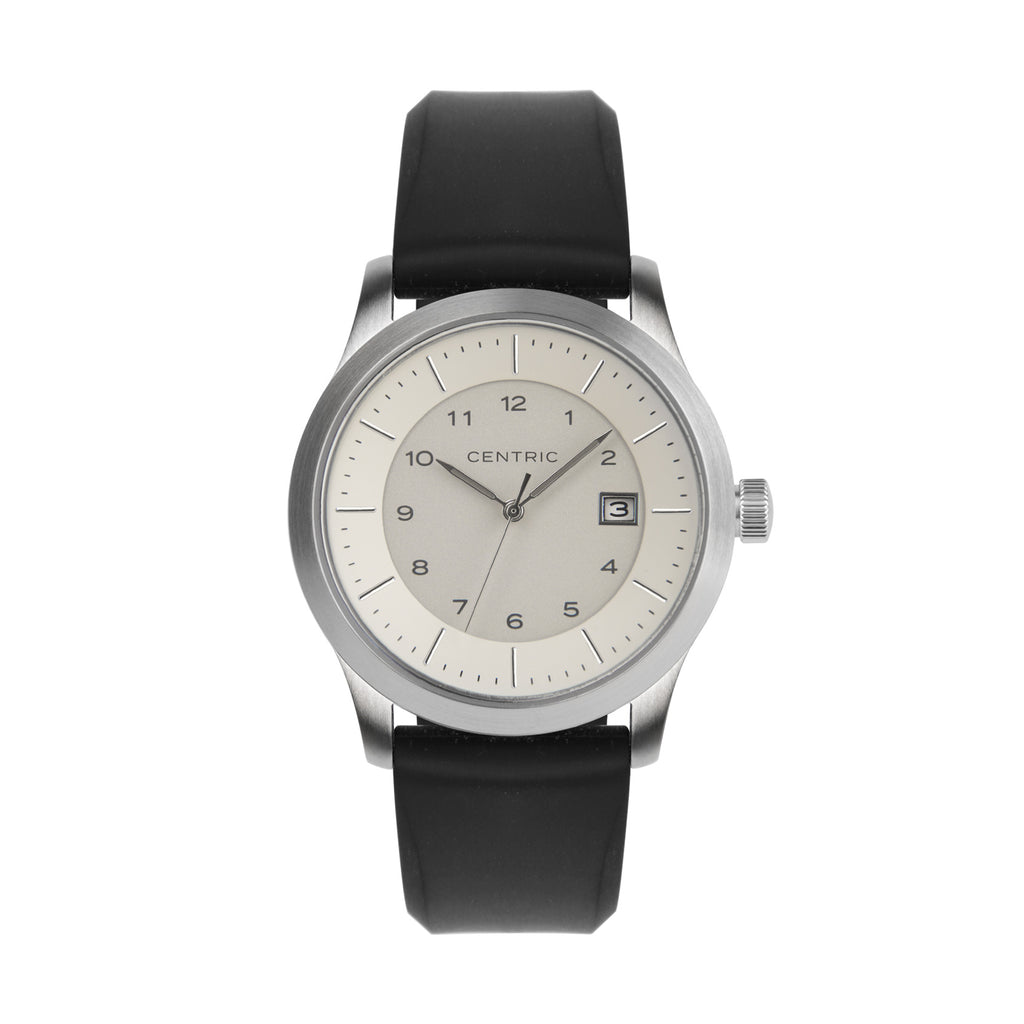 Ivory Field Watch Silicone Rubber Strap