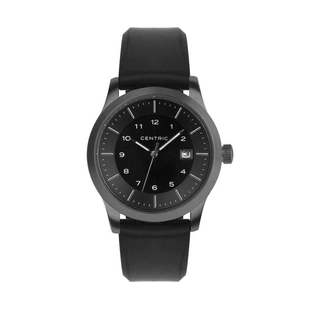 Gunmetal Field Watch Silicone Rubber Strap