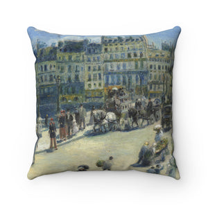 Faux Suede Square Pillow With Auguste Renoir Artwork