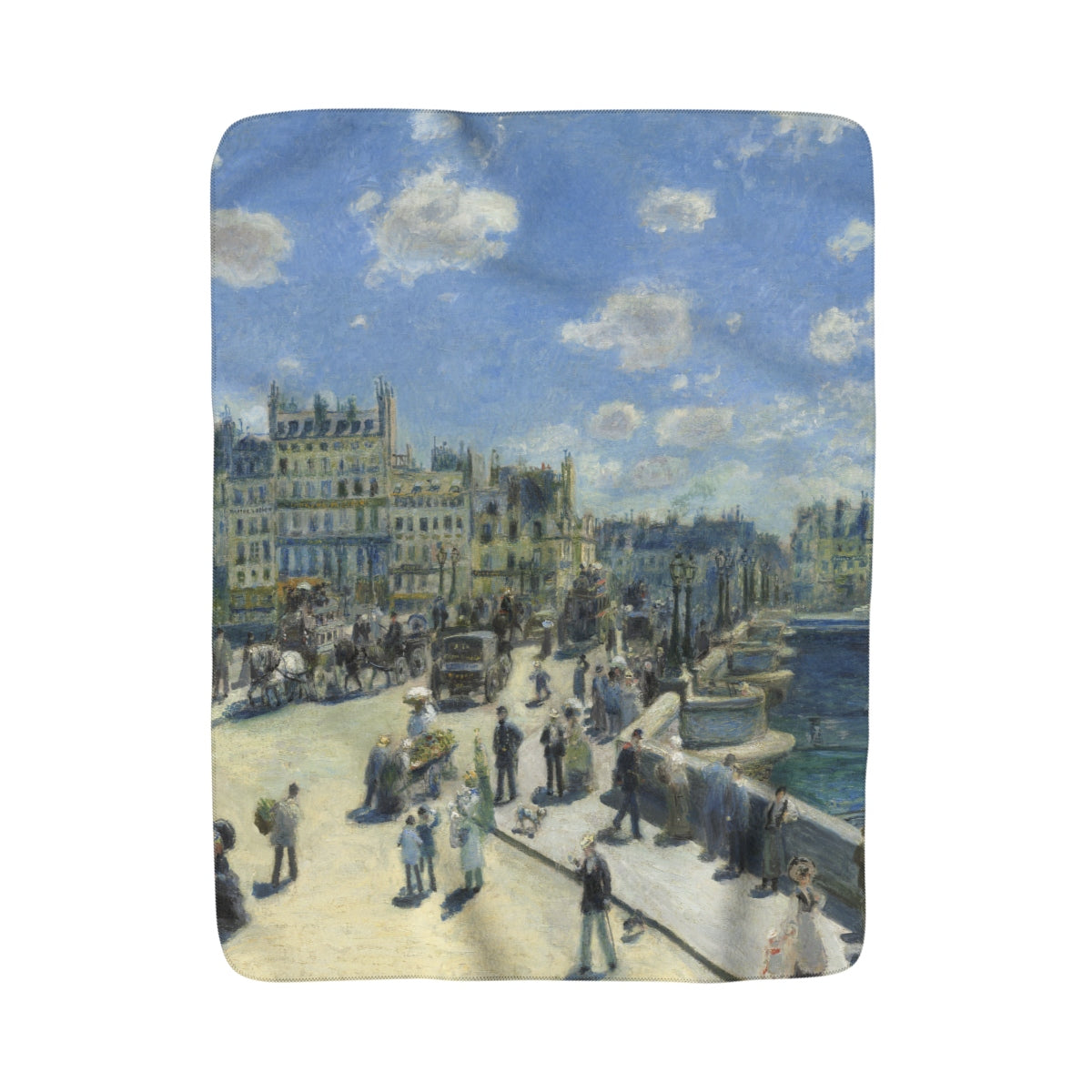 Sherpa Fleece Blanket With Auguste Renoir Artwork