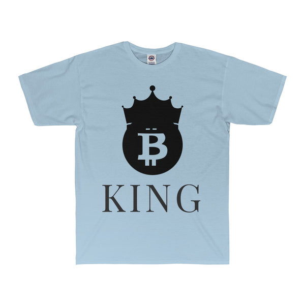 Bitcoin King Adult 20/1's Surf Tee - justafive.com