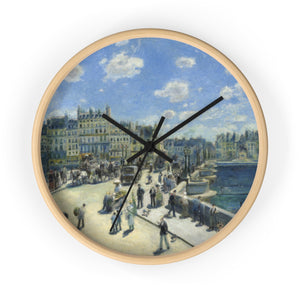 Wall Clock With Auguste Renoir Artwork - justafive.com