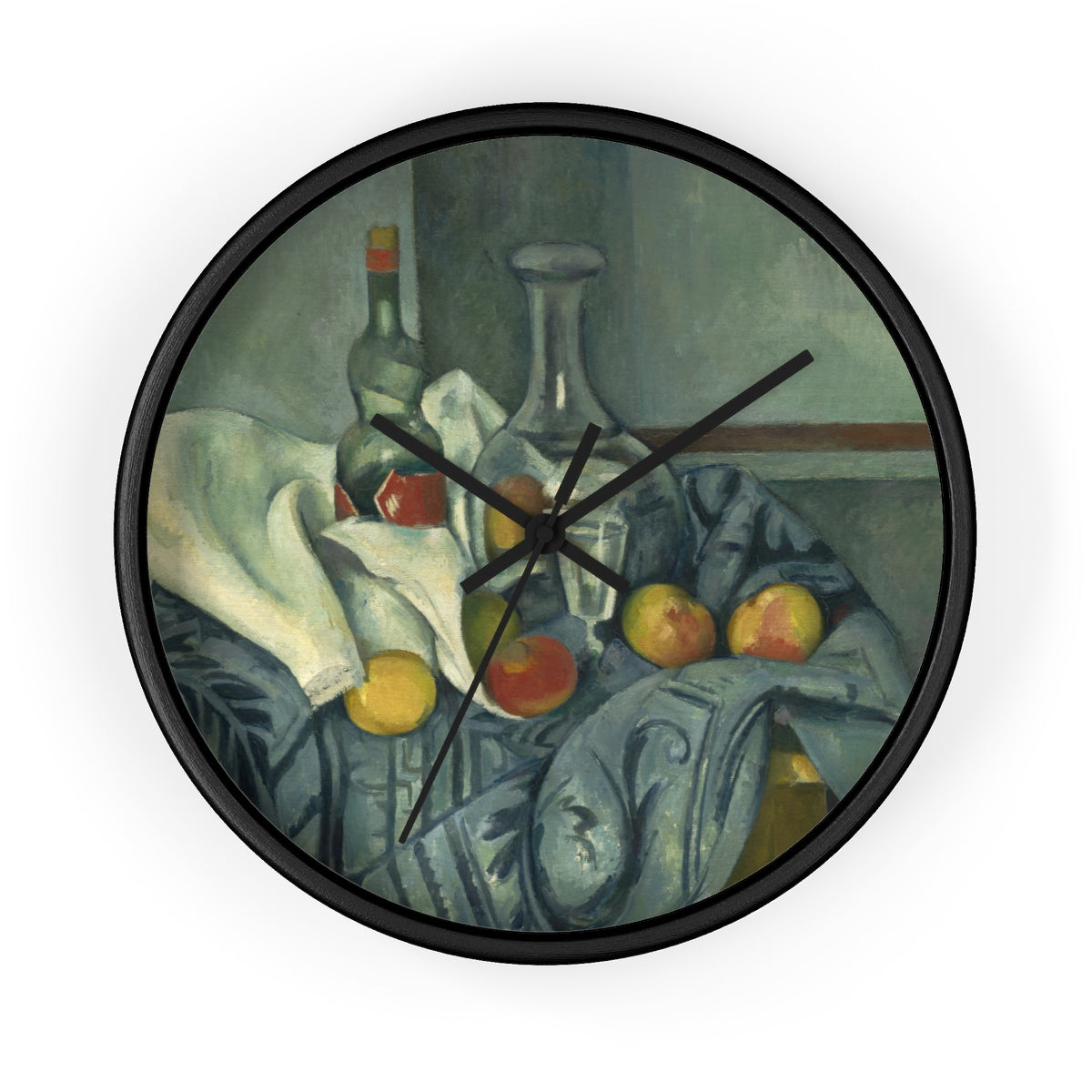 Wall Clock With Paul Cézanne Artwork - justafive.com