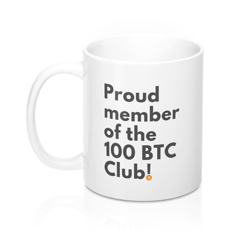 100 BTC Club Member 11oz Mug