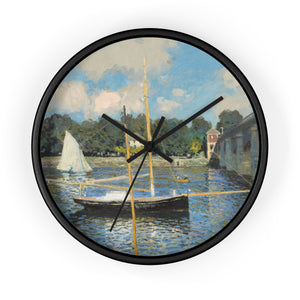 Wall Clock With Claude Monet Artwork - justafive.com