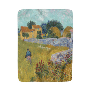 Sherpa Fleece Blanket With Vincent van Gogh Artwork