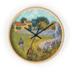 Wall Clock With Vincent van Gogh Artwork