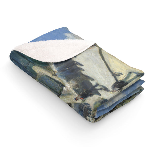 Sherpa Fleece Blanket With Auguste Renoir Artwork - justafive.com