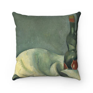 Faux Suede Square Pillow With Paul Cézanne Artwork - justafive.com