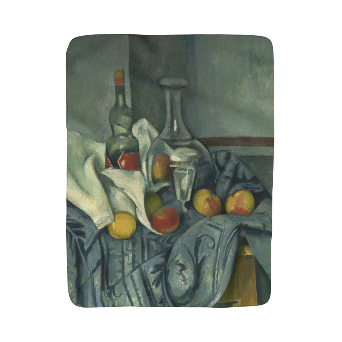Sherpa Fleece Blanket With Paul Cézanne Artwork - justafive.com