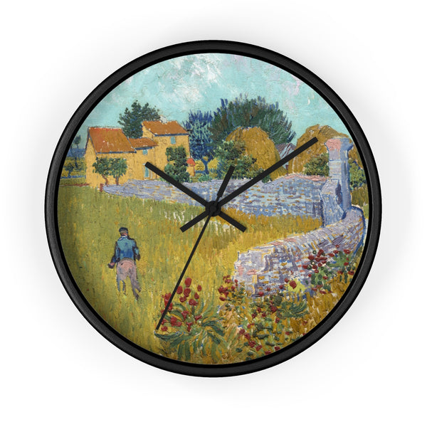 Wall Clock With Vincent van Gogh Artwork - justafive.com