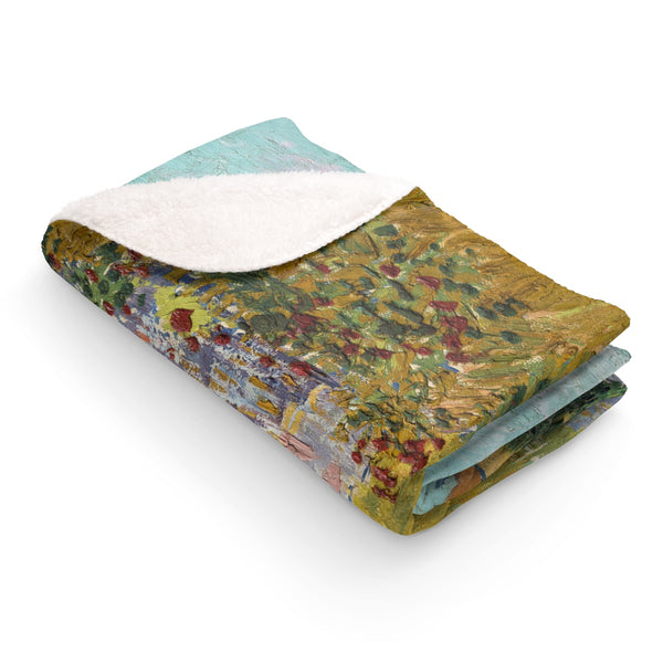 Sherpa Fleece Blanket With Vincent van Gogh Artwork - justafive.com